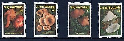 1042-1045 Clear And Distinctive Practical Antigua & Barbuda 1985 Mushrooms Mnh Set S.g Antigua & Barbuda (1981-now)