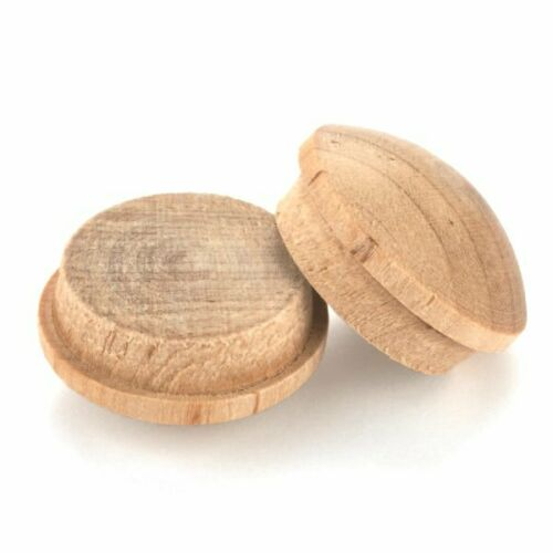 """25 Natural Maple 1/"""" Button Style Screw Hole Plugs or Covers"""