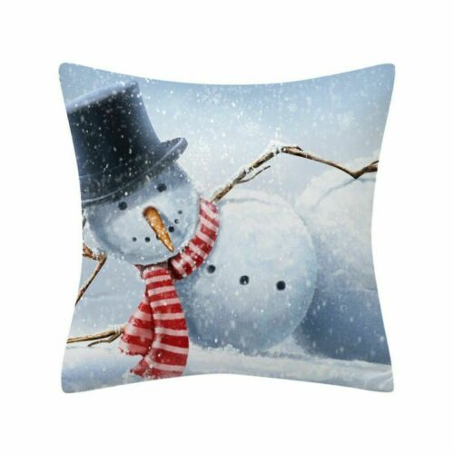 Christmas Case Throw Glitter Home Decoration Pillow Cushion Polyester Sofa Cover