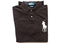 New Ralph Lauren Polo Big Pony Custom Fit Dark Brown Cotton Shirt S