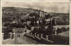 Jerusalem-Jeruschalajim-Israel-Jisra-039-el-AK-1920-30-Garten-Gethesemane-Panorama