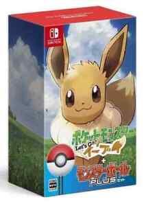 Nintendo Switch Pokemon Eevee Lets Go!  Monster Ball Plus Set