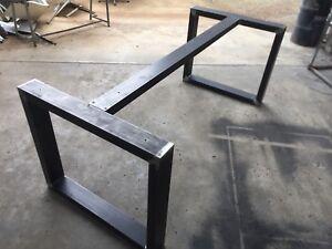 Basi In Ferro Per Tavoli.Base In Ferro Per Tavolo Industrial Design Anche Su Misura Ebay