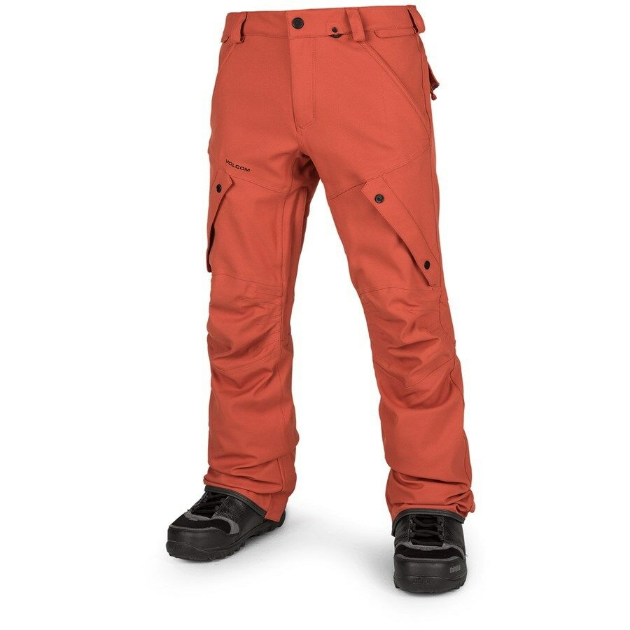 2019 NWT  MENS VOLCOM ARTICULATED SNOWBOARD PANTS  210 L burnt orange snowpant  discount promotions