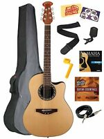 Applause Ab24-4 Balladeer Acoustic/electric Guitar Natural Bundle Many Gifts