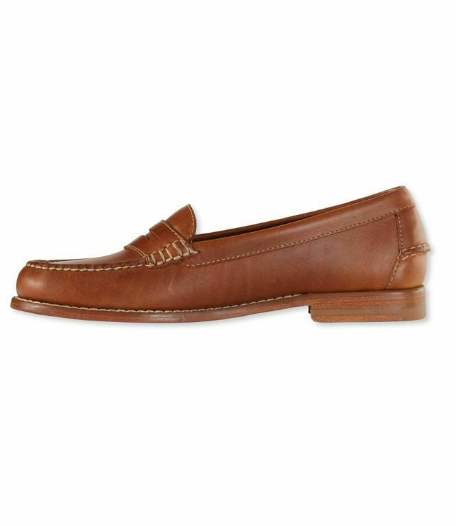 NIB  160 L.L. Bean Signature shoes sz 10 Handsewn Leather PENNY LOAFERS Weejens