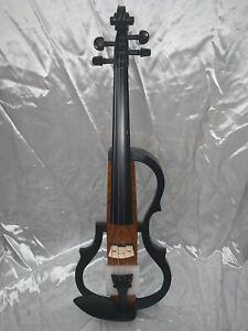 BRAND NEW Full Size Geneva Advanced Electric Violin in Amber w/ Case