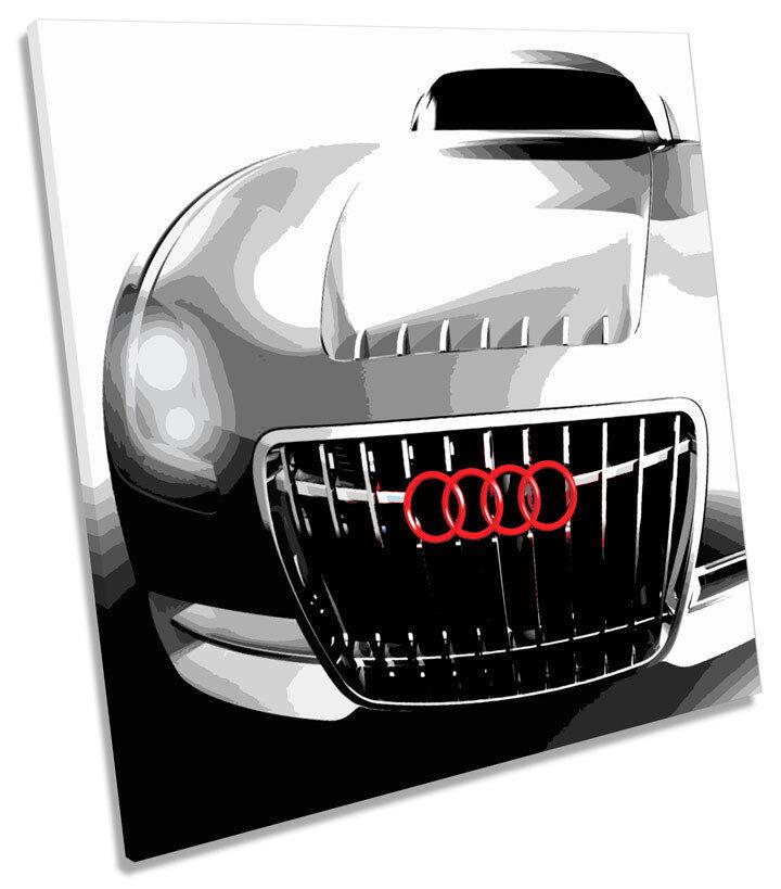Audi schwarz Concept Car SQUARE CANVAS WALL ART Picture Print