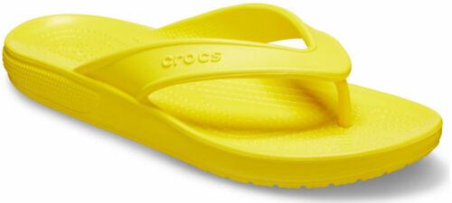 crocs Zehensteg Classic Flip Zitrone Croslite Normal Unisex