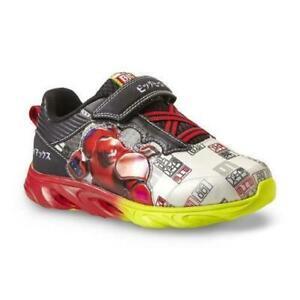 Superman Sneakers Turnschuhe Blink Licht Schuhe Jungen Baby Kids Boy EU 30 32,5