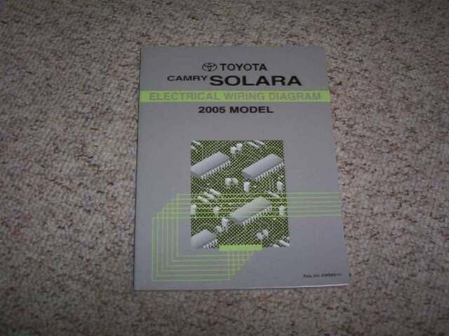 2005 Toyota Camry Solara Electrical Wiring Diagram Manual