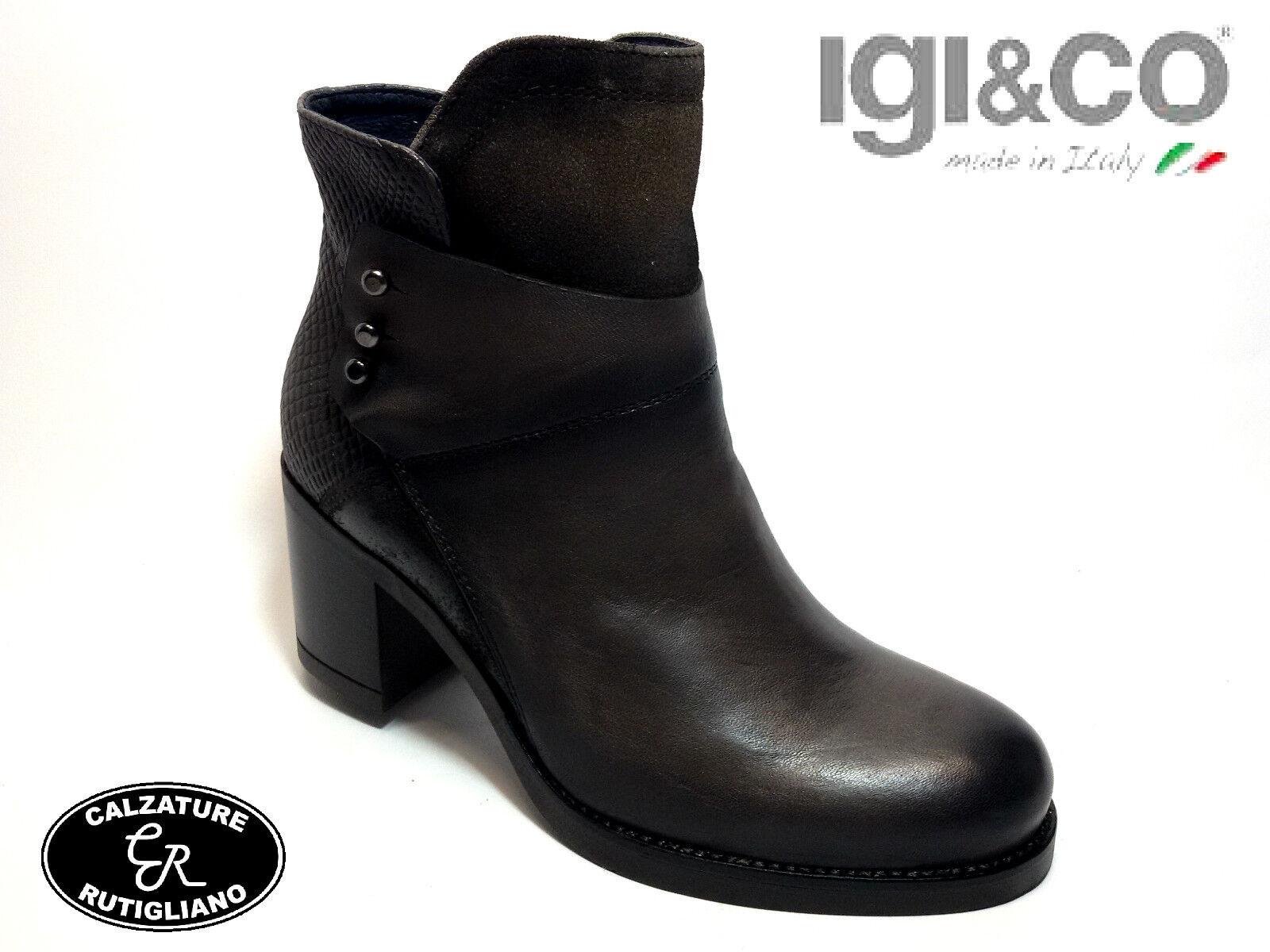 Grandes zapatos con descuento IGI&CO 68622 SCARPE DONNA STIVALE CAVIGLIA PELLE VISONE TACCO 7 CM MADE IN ITALY