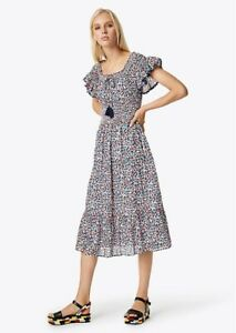 1aa32169cccf Tory Burch Wildflower Smocked Midi Dress NWT Cover Up Floral Boho 0 ...