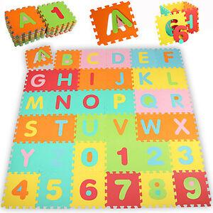 86-tlg-Puzzlematte-Kinderteppich-Spielmatte-Spielteppich-Krabbeldecke-Matte
