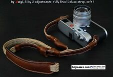 *LUIGI SILKY FULLY LINED STRAP for LEICA,NIKON,FUJI,ZEISS,2 LENGHT's ADJUSTMENTS