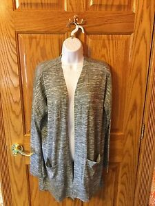 9d02c460f2 NWT OLD NAVY WOMEN S OPEN- FRONT COTTON SOFT GRAY KNIT CARDIGAN ...