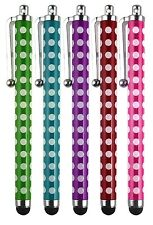 Universal Polka Dots Stylus Pen for iPhone iPad Samsung Galaxy Tablet Pack of 5