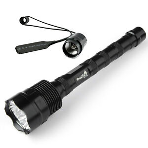Tactical-LED-Flashlight-Remote-Switch-18650-Trustfire-3800LM-CREE-XM-L2-One-Mode