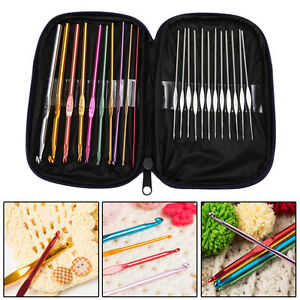 22pcs-Set-Aluminum-Crochet-Hooks-Needles-Knit-Multi-Color-Knit-Weave-Craft-Yarn