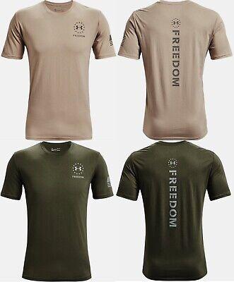 Under Armour Mens UA Freedom Back Stripe Short Sleeve Graphic T-Shirt SS Tee USA