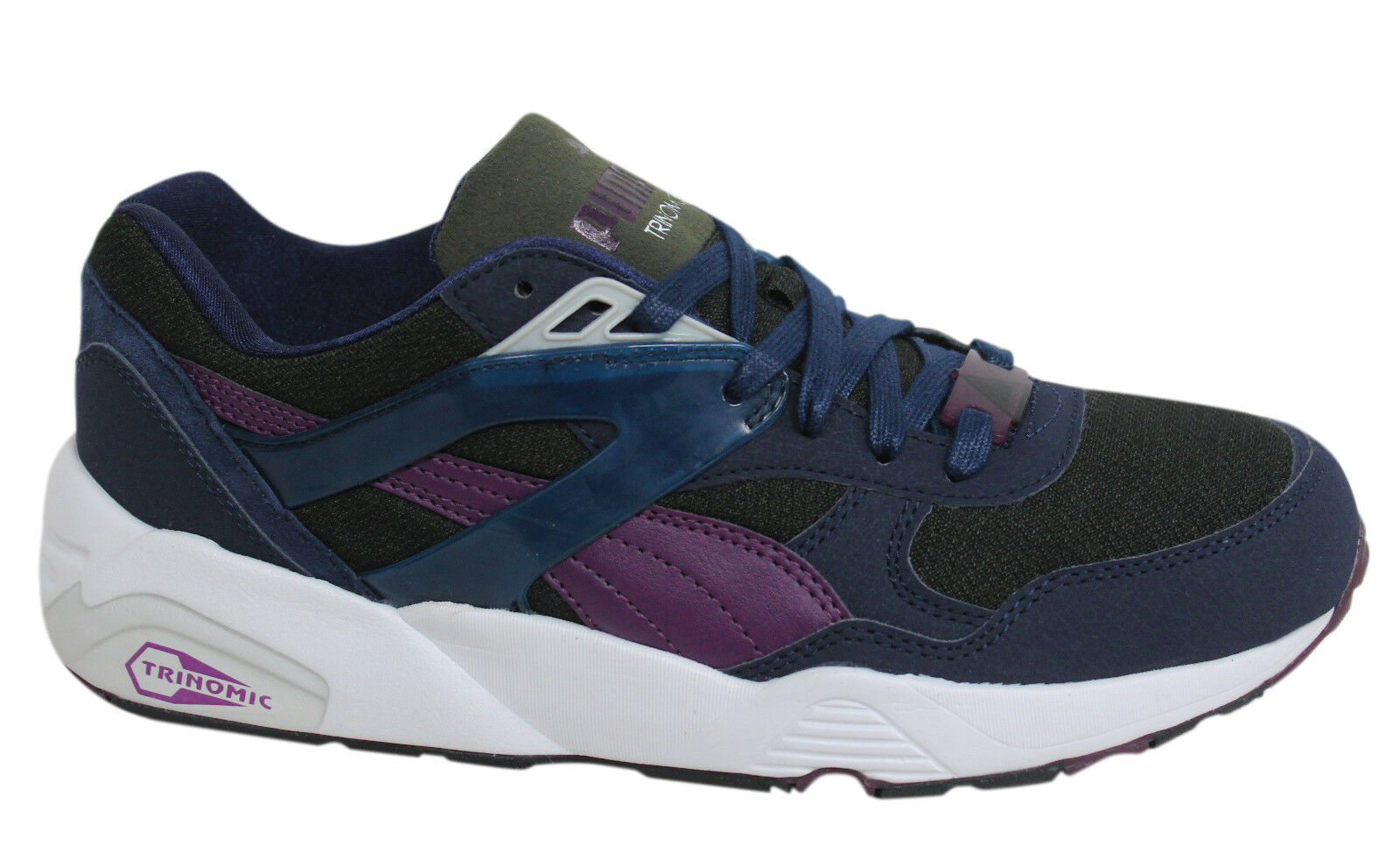 Puma R698 Trinomic Lace Up Navy Synthetic Homme Trainers 359286 01 D38