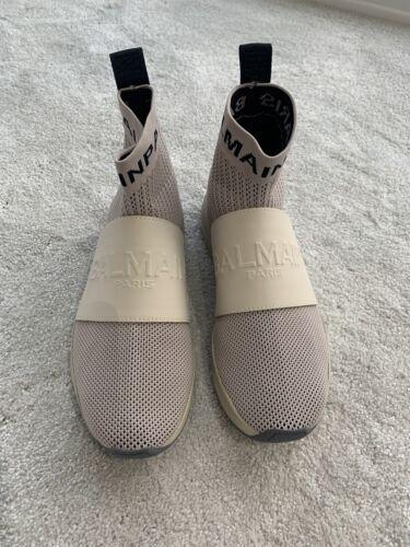 Hombre Nuevo Balmain Calcetín Zapatillas Sneakers Talla 7 EUR 40 UK.