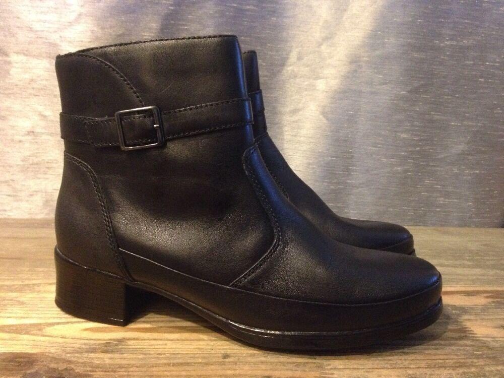 all'ingrosso a buon mercato Lassen nero Leather Leather Leather Ankle stivali Buckles Straps Dimensione 38   US 7  molte sorprese