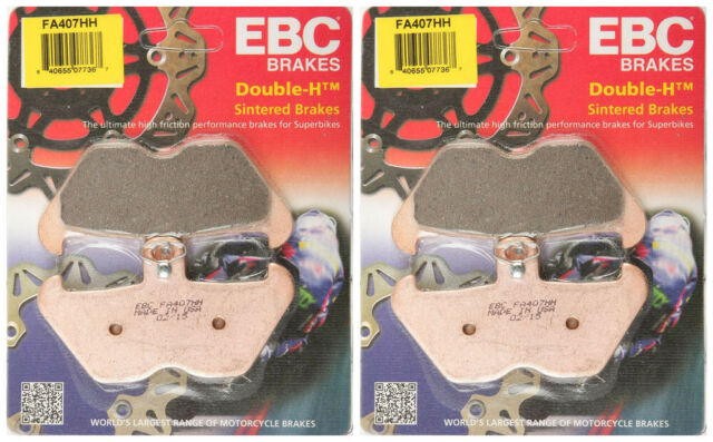 2 Packs - Enough for 2 Rotors EBC Double-H Sintered Metal Brake Pads FA400HH