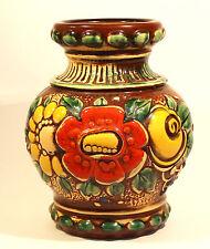 Scheurich Keramik VASE gemarkt 287-18 W. Germany 70er Jahre Flower-Power