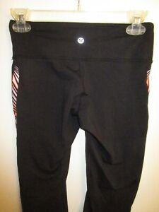 Lululemon-Athletica-4-Workout-Stretch-Yoga-Pants-Leggings-Cropped-Black-Pink