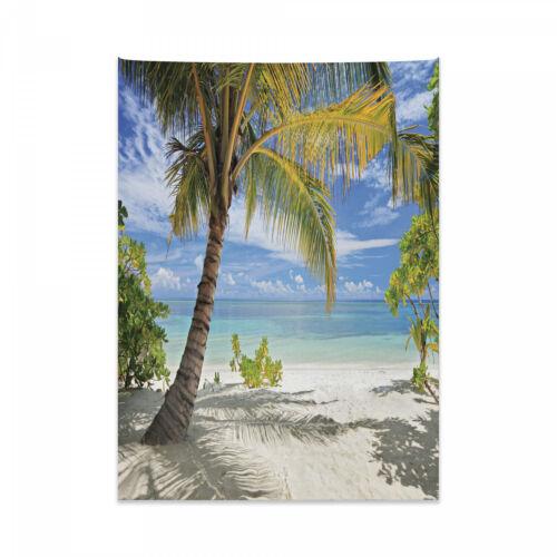 Palmen Küste Druck Tropisch Wandteppich und Tagesdecke