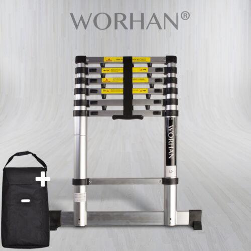 WORHAN® Echelle 2m Télescopique PRO Aluminium Anodisé Solide Extensible 200cm