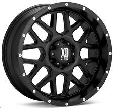 "18 Inch Black Wheels Rims XD Series XD820 Grenade 18x9"" Jeep JK LIFTED Set of 5"