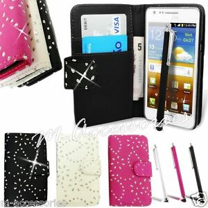 DIAMOND-BLING-DIAMANTE-WALLET-PU-LEATHER-CASE-COVER-POUCH-FOR-NEW-MOBILE-PHONES