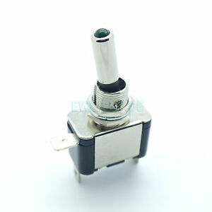 Kfz-Schalter-mit-gruene-LED-Beleuchtet-12V-20A-Kippschalter-2-Stellungen-E-A