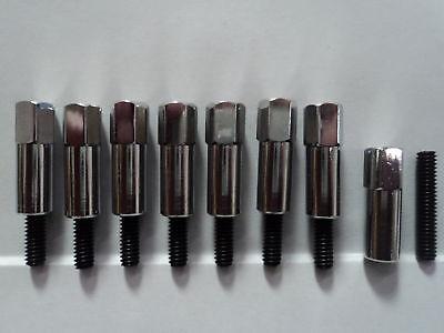 12 PCS Valve Cover Bolt Set Chrome Stud Kit Fit CHEVY 283 305 327 350 383