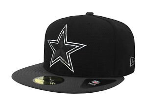 New-Era-59Fifty-Cap-Dallas-Cowboys-Mens-Basic-Fitted-Hat-Black-Charcoal-5950