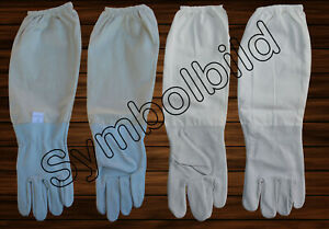 Imkerhandschuhe Ziegenleder Baumwolle Größe S/7 Bienen Imkerei Schutzhandschuhe