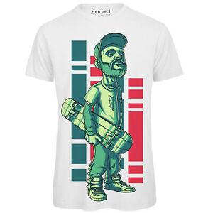 Maglietta-Uomo-T-Shirt-Cotone-con-Stampa-Divertente-sullo-Sport-Skateboard-Tuned