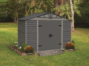 Arrow Storage Products Admiral Series Steel Storage Shed, 8 ft. x 5 ft. Emery...