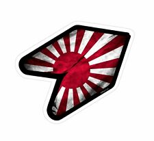 Wakaba Wak Young Driver New Leaf With Japanese Rising Sun Drift JDM car sticker