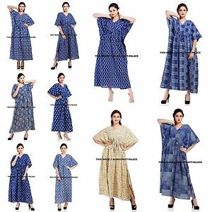 New-Hippie-Boho-Caftan-Kaftan-Kimono-Sleeve-Women-Cocktail-Maxi-Dress-Plus-Size