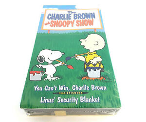 The-Charlie-Brown-and-Snoopy-Show-vhs-Two-Episodes-Peanuts-Linus-Rare-New-Sealed
