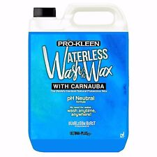 Car Care pH Neutral Waterless Wash & Wax Carnauba Car Cleaner - NO WATER NEEDED
