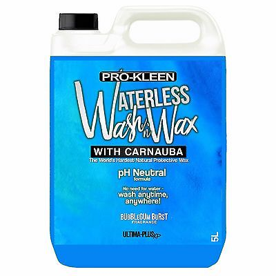 Car Care pH Neutral Waterless Wash & Wax Carnauba Car Cleaner - NO WATER NEEDED