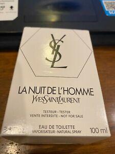 """YSL La Nuit DE L'Homme By Yves Saint Laurent cologne edt 3.3 """"TSTR"""""""