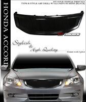 For 2011-2012 Honda Accord Sedan Black R Aluminum Mesh Front Bumper Grill Grille on sale