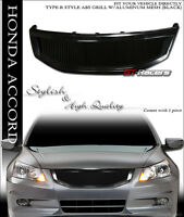 For 2011-2012 Honda Accord Sedan Black R Aluminum Mesh Front Bumper Grill Grille on sale