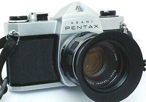 Asahi-Pentax-SP500-mit-Super-Takumar-55mm-f-2-M42-Tasche-vom-Haendler