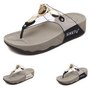 f7258ea7b6c00b Details about New Ladies women s sandals fit flop UK mule summer sandals  Toe Post Sizes Shoes